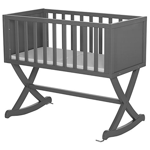 Dream On Me Luna Cradle, Steel Grey