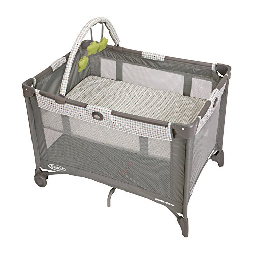 Graco Pack and Play On the Go Playard | Includes Full-Size Infant Bassinet, Push Button Compact Fold, Pasadena