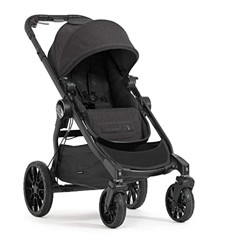 Baby Jogger City Select LUX Stroller | Baby Stroller with 20 Ways to Ride, Goes from Single to Double Stroller | Quick Fold Stroller, Granite