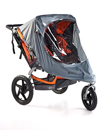 BOB Duallie Swivel Wheel Stroller Weather Shield   Water and Wind Resistant + Ventilated + Easy Install