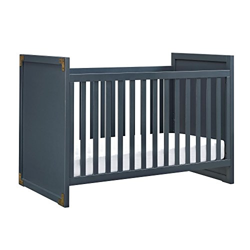 Baby Relax Miles 2-in-1 Convertible Crib, Graphite Blue