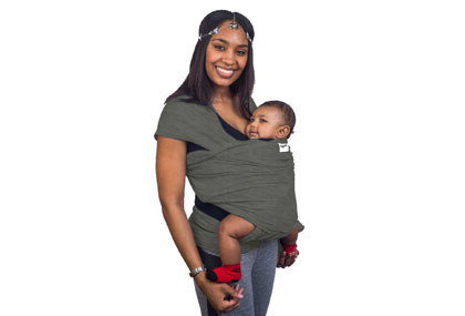 Slate Grey Baby Sling Carrier Wrap