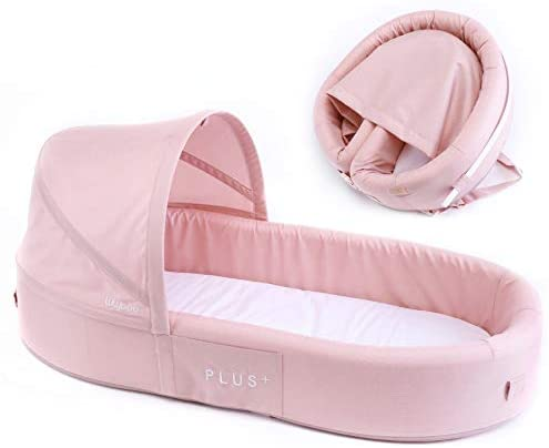 Lulyboo Bassinet Plus+ Infant to Toddler Portable Travel Bed (Blush)