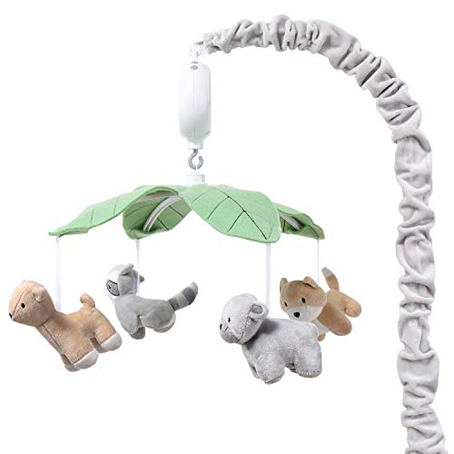 The Peanutshell Woodland Animals Musical Crib Mobile for Baby Boys or Girls | Digital Music Box with 12 lullabies
