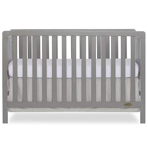 Dream On Me Ridgefield 5-in-1 Convertible Crib in Storm Grey, Greenguard Gold Certified