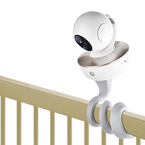 iTODOS Baby Monitor Mount for Arlo, Motorola Baby Monitor and Most Universal Monitors Camera, Versatile Twist Mount Without Tools or Wall Damage - Gray