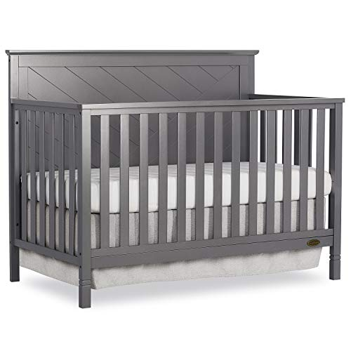 Dream On Me Skyline 5 in 1 Convertible Crib, Storm Grey