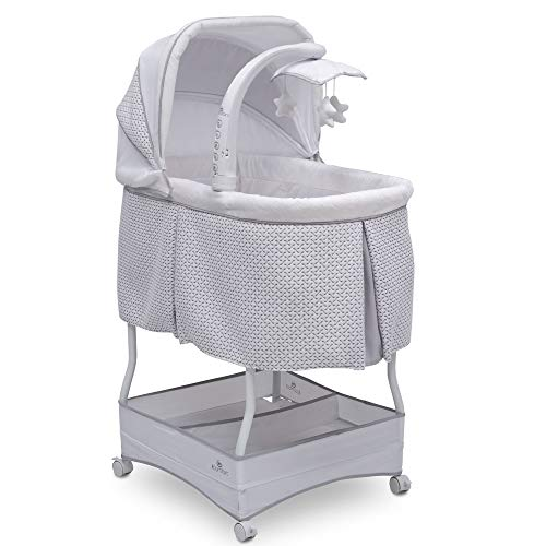 Serta iComfort Hands-Free Auto-Glide Bedside Bassinet - Portable Crib Features Silent, Smooth Gliding Motion That Soothes Baby, Cameron