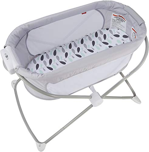 Fisher-Price, Soothing View Bassinet – Climbing Leaves Folding Po...