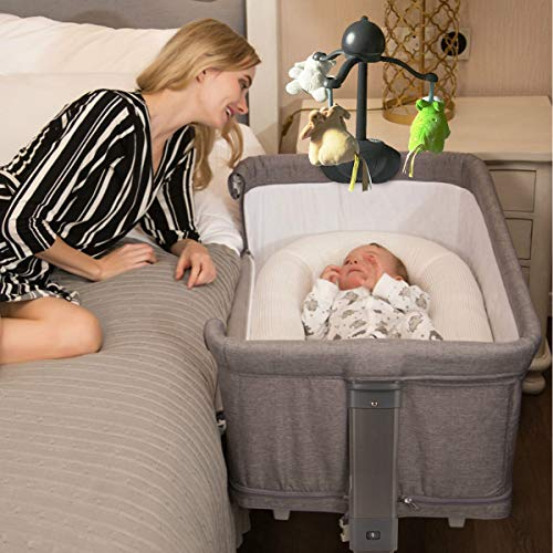 3 in 1 Baby Bassinet Bedside Sleeper, Mingyall Variable Baby Play...