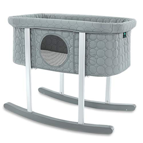 Baby Bassinet Cradle Includes Gentle Rocking Feature, Great for N...