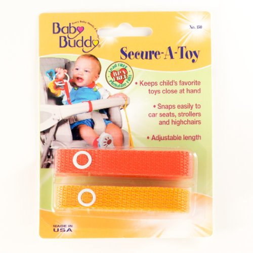 Baby Buddy Secure-A-Toy - Straps Toys, Teether, or Pacifiers to S...