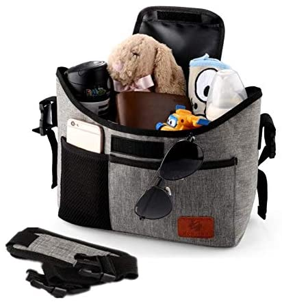 Baby Stroller Organizer Bag with 2 Excellent Cup Holders and Stan...