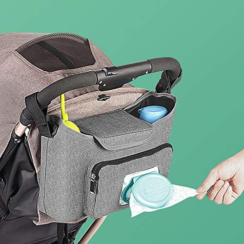 Baby Stroller Organizer - Stroller Accessories Bag Large Space wi...