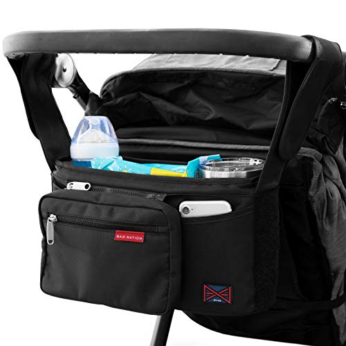 Bag Nation Universal Stroller Organizer Caddy Featuring Cup Holde...