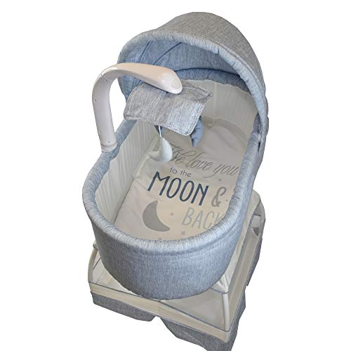 Bliss Baby Sweetli Deluxe Bassinet (Chambray Blue)
