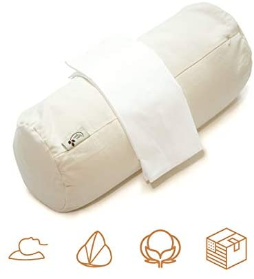 ComfyComfy Round Buckwheat Pillow for Side Sleeper Neck Support, ...