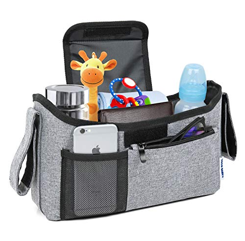 Deluxe Stroller Organizer Universal Fit for All Strollers Multipl...