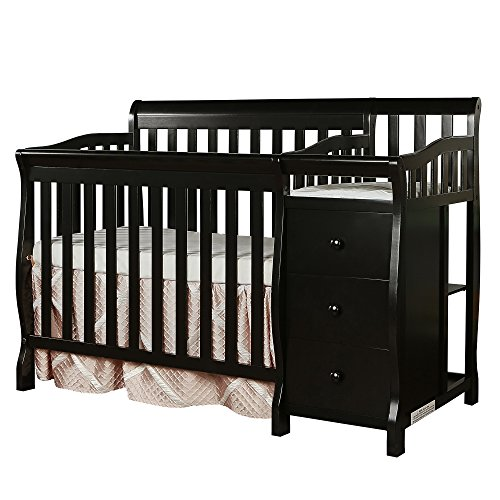 Dream On Me Jayden 4-in-1 Mini Convertible Crib And Changer in Bl...