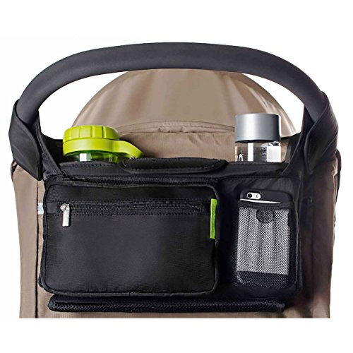 Ethan & Emma Universal Baby Stroller Organizer with Insulated Cup...