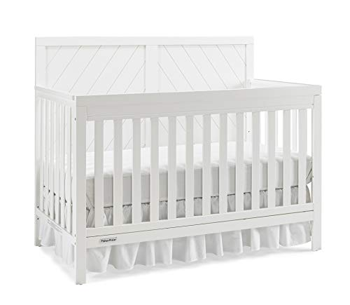 Fisher-Price Glendale 4-in-1 Convertible Crib, Frost White