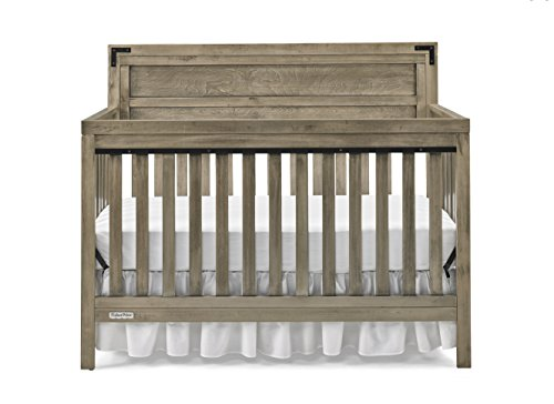 Fisher-Price Paxton 4-in-1 Convertible Crib, Vintage Grey