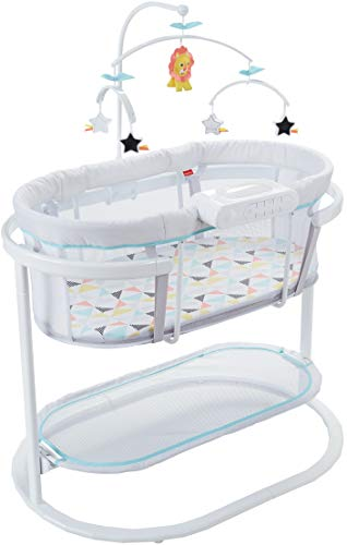 Fisher-Price Soothing Motions Bassinet, Soothe Baby to Sleep with...