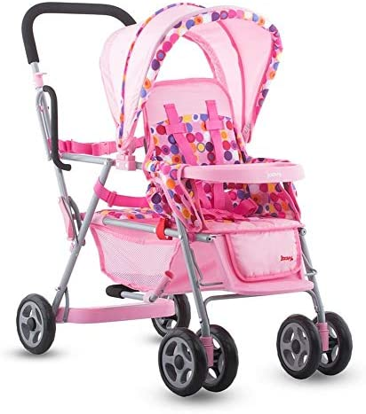 Joovy Toy Caboose, Doll Stroller, Doll Accessory, Pink Dot, 6.2 x...