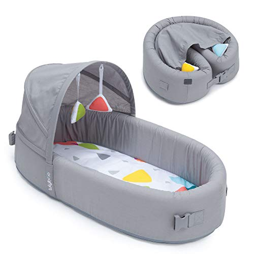 Lulyboo to Go Baby Lounge Snuggle, Portable Lounger Combines Play...
