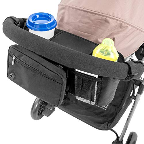 Lusso Gear Stroller Organizer With Cup Holders - Fits All Strolle...