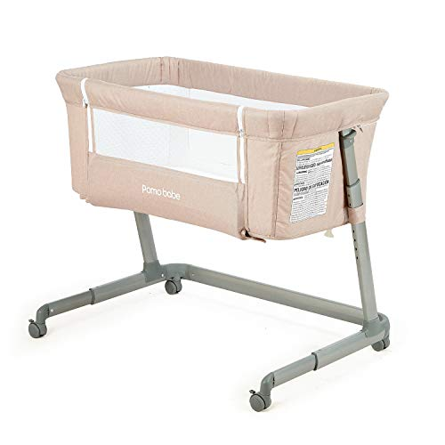 Pamobabe Bedside Sleeper,Baby Bed to Bed,Babies Crib Bed, Easy Fo...