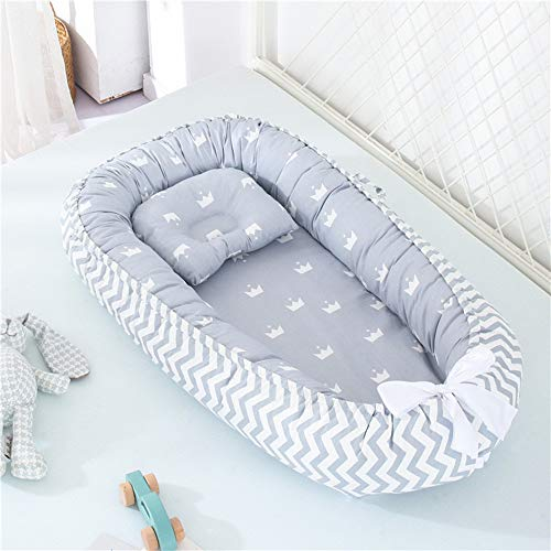 QILESUNNY The New Baby Lounger,Breathable Infant Bassinet Mattres...