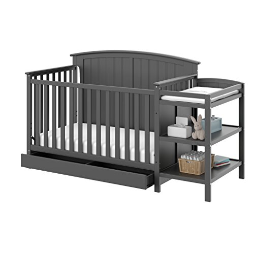 Storkcraft Steveston 4-IN-1 Convertible Crib and Changer with Dra...