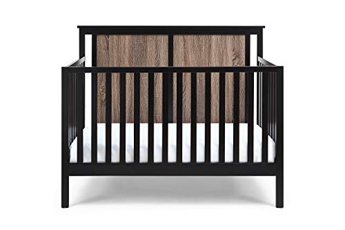 Suite Bebe Connelly 4 in 1 Convertible Crib in Black with Vintage...