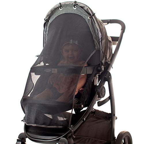 Sun Shade for Strollers (Long). Universal Adjustable SPF 30+ Suns...