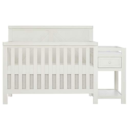 SweetPea Baby Meadowland 5-in-1 Convertible Crib & Changer I Atta...