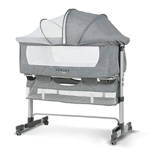 Uenjoy Baby Bassinet, Bedside Sleeper,Foldable Baby Bed to Bed, A...