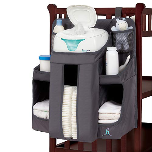 hiccapop Hanging Diaper Organizer for Changing Table and Crib, Di...