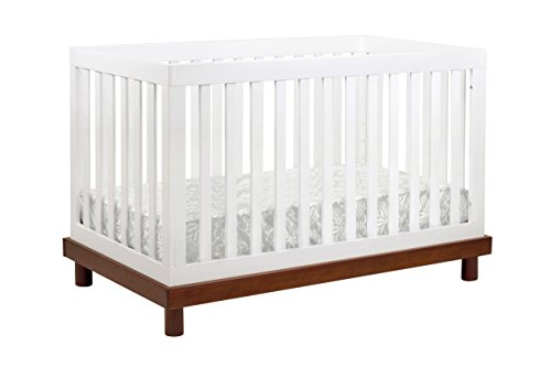 BABY MOD Olivia 3in1 Convertible Crib in and, Amber/White