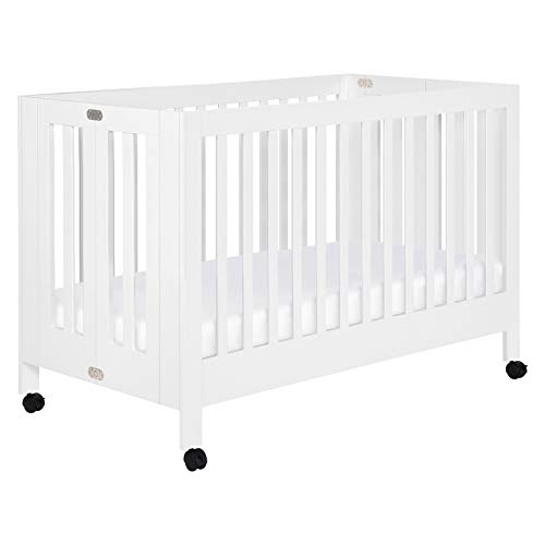 Babyletto Maki Full-Size Portable Folding Crib with Toddler Bed C...