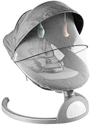 Bigzzia Stationary Baby Swings Electric Cradle Smart Touch Panel ...