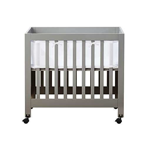 BreathableBaby Classic Baby Mesh Mini Crib Liner, Safer for Baby,...