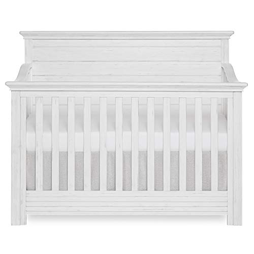 Evolur Waverly 5-in-1 Full Panel Convertible Crib in Weathered Wh...