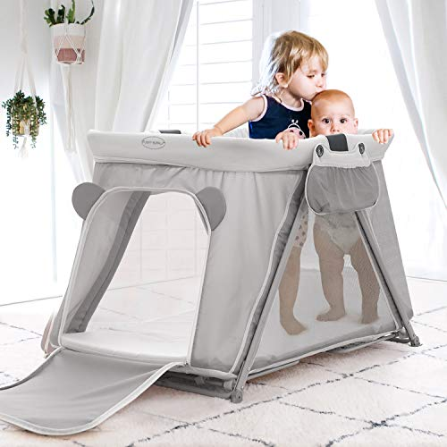 FUNNY SUPPLY 3-1 Pack n Play with Mattress and Sheet, Portable, L...