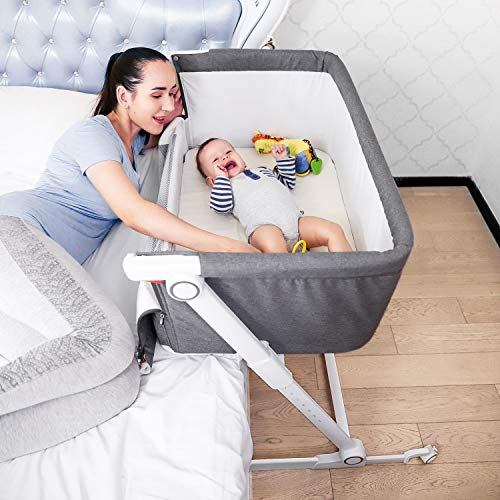 Firares Height & Incline Adjustable Baby Bedside Bassinet, Baby B...