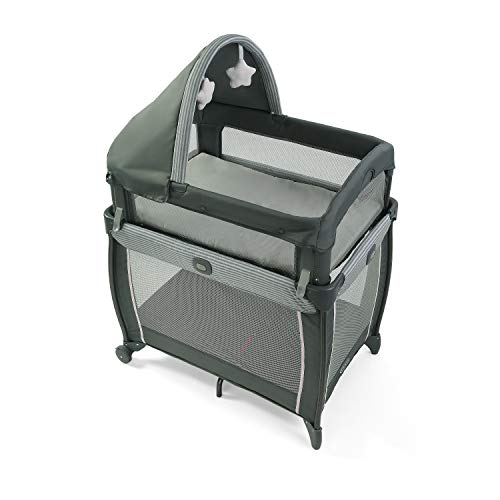 Graco My View 4 in Baby Bassinet with 4 Stages Including Raised B...
