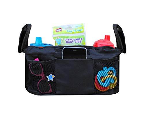Mighty Clean Baby Stroller Organizer - Fits Most Strollers and In...