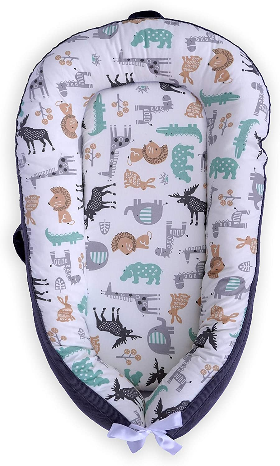 Moosey Baby - Baby Lounger Set, Breathable Cotton Baby Nest, Mach...