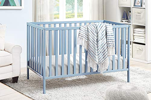 Suite Bebe Palmer 3 in 1 Convertible Crib - Quick Ship, Baby Blue