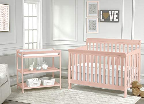 Suite Bebe Riley 4-in-1 Convertible Crib, Coral Finish